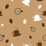 Coffee Seamless Pattern Stock Photos