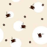 Coffee seamless pattern. Coffee pattern on bright background Stock Image