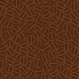 Coffee seamless pattern. Seamless pattern wallpaper, coffee beans design, vector background Stock Image