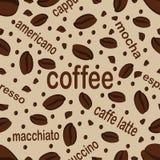 Coffee. Seamless pattern royalty free illustration