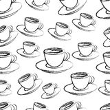 Coffee seamless pattern Stock Photo