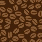 Coffee seamless pattern. Dark background. Royalty Free Stock Photo