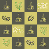 Coffee Seamless Pattern vector illustration