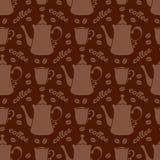 Coffee seamless pattern Royalty Free Stock Photo