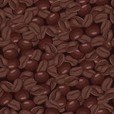 Coffee seamless pattern. Coffee roasted beans seamless pattern. Vector illustration Royalty Free Stock Images