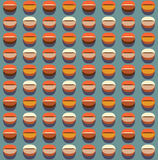 Coffee seamless pattern. Stylized coffee beans motif Royalty Free Stock Image