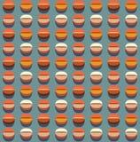 Coffee seamless pattern. Stylized coffee beans motif Royalty Free Stock Image