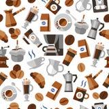 Coffee seamless pattern Royalty Free Stock Image