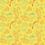 Coffee seamless pattern Royalty Free Stock Image