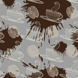 Coffee seamless pattern. Stock Photography