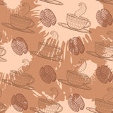 Coffee seamless pattern. Royalty Free Stock Images