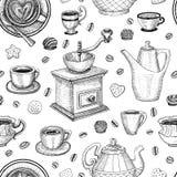 Coffee seamless pattern vector sweet Stock Photos