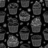 Coffee seamless pattern vector sweet Stock Image
