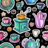 Coffee seamless pattern vector sweet Stock Photo