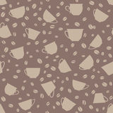Coffee seamless texture. Beans seamless pattern. Stock Photography