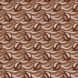 Coffee seamless vector pattern, hand drawn coffee Royalty Free Stock Images