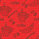 Coffee seamless wallpaper Royalty Free Stock Image