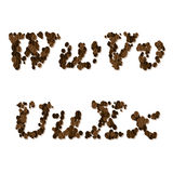 Coffee seed font Royalty Free Stock Photo