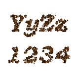 Coffee seed font Stock Image