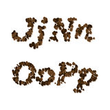 Coffee seed font Stock Photography