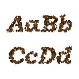 Coffee seed font Stock Images