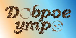 Coffee Seed Font Royalty Free Stock Photos