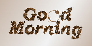 Coffee Seed Font Royalty Free Stock Image