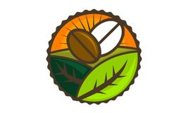 Coffee Seed Garden. Logo Design Template Vector royalty free illustration