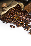 Coffee seed with grinder Royalty Free Stock Photography