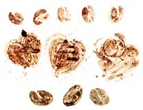 Coffee seed and love. With coffee textures stock photography