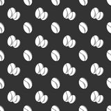 Coffee seed seamless pattern Royalty Free Stock Images