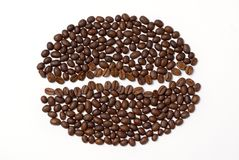 Coffee seed sign Stock Images