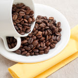 Coffee seeds composition Royalty Free Stock Photos