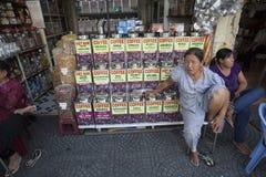 Coffee seller in Vietnam Stock Images