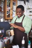 Coffee seller Royalty Free Stock Image