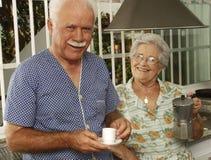 Coffee senior. Royalty Free Stock Image