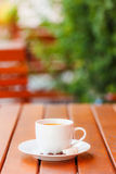 Coffee served outdoors Royalty Free Stock Images