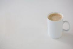 Coffee served in white mug Stock Image
