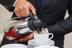 Coffee serving Royalty Free Stock Image