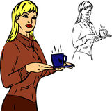 Coffee serving secretary Royalty Free Stock Photo