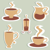 Coffee set Royalty Free Stock Photos