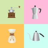 Coffee Set elements Royalty Free Stock Photos