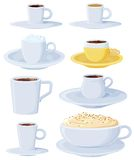 Coffee set light blue Royalty Free Stock Image