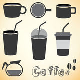 Coffee set vector Royalty Free Stock Images