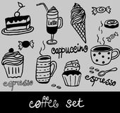 Coffee set vector illustration Royalty Free Stock Photography