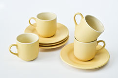 Coffee set on white background Royalty Free Stock Photo