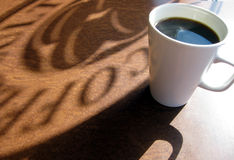 Coffee Shadow Stock Photography