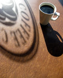 Coffee Shadow Stock Images