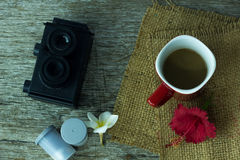 Coffee before the shooting. Stock Photos