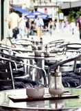 Coffee shop. A table at a coffee shop Royalty Free Stock Image